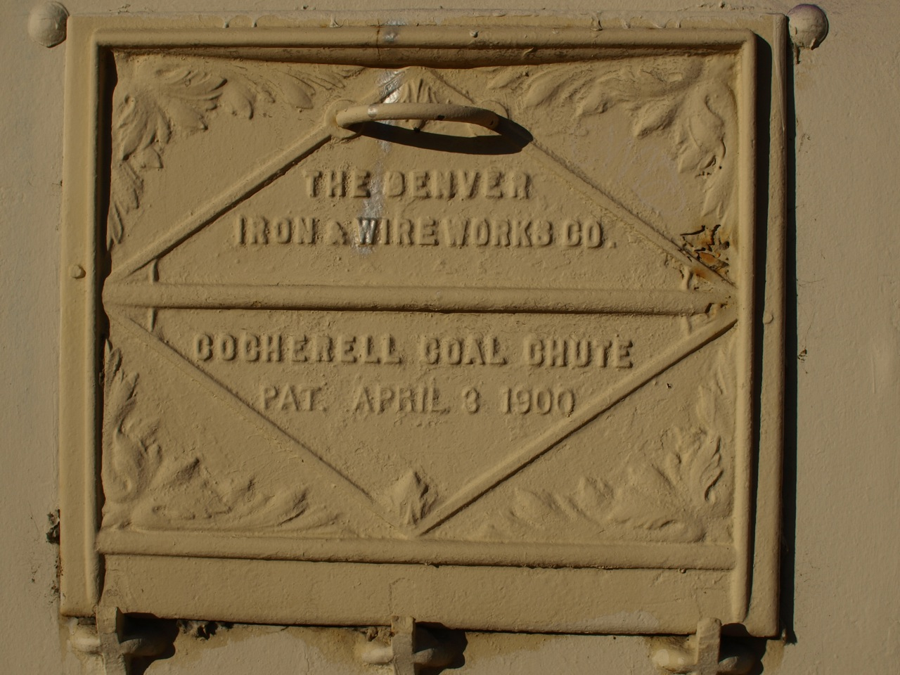 Denver Ironworks Cocherell Coal Chute Patented April 3